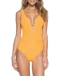 Becca Loredo Rib One-piece Swimsuit - Orange