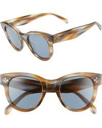 5f2f210197d Lyst - Céline 56mm Cat Eye Sunglasses - in Blue