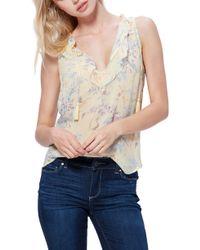 PAIGE Alma Floral Silk Top - Multicolour