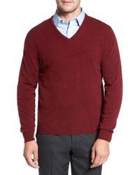 David Donahue - Cashmere V-neck Sweater - Lyst