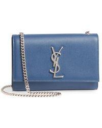 Saint Laurent - Small Kate Grained Leather Crossbody Bag - Lyst