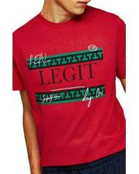 TOPMAN - Legit Graphic T-shirt - Lyst
