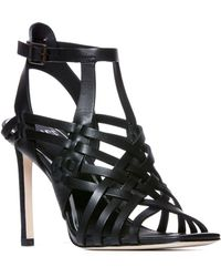 PAIGE - Verso Strappy Cage Sandal - Lyst