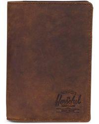 Herschel Supply Co. - Raynor Nubuck Leather Passport Holder - - Lyst