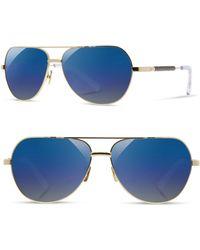 Shwood 'redmond' 58mm Polarized Aviator Sunglasses - Blue