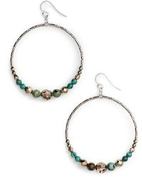 Chan Luu - Semiprecious Stone Frontal Hoop Earrings - Lyst