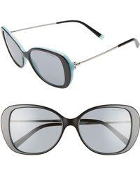 Tiffany & Co. - Tiffany T 55mm Gradient Butterfly Sunglasses - Lyst