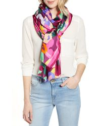 Kate Spade - Floral Oblong Silk Scarf - Lyst