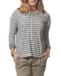 Rip Curl - Next Move Stripe Hooded Pullover - Lyst
