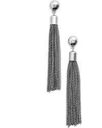 Karine Sultan Tassel Drop Earrings - Metallic