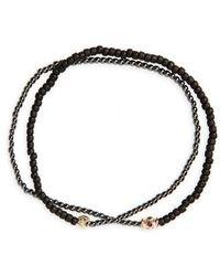 Luis Morais - Ruby Barrel Bead Wrap Bracelet - Lyst