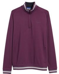 Ted Baker | Trim Fit Quarter Zip Golf Pullover | Lyst
