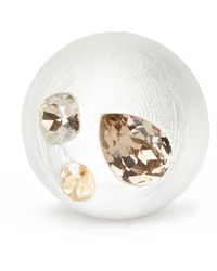 Alexis Bittar - Crystal Studded Bubble Ring, Size 7 And 8, Silver - Lyst