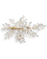 Brides & Hairpins 'sahara' Crystal Leaf Bendable Hair Clip - Metallic