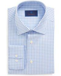 David Donahue - Regular Fit Check Dress Shirt - Lyst