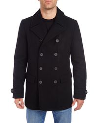 Vince Camuto Water Resistant Wool Blend Peacoat - Black