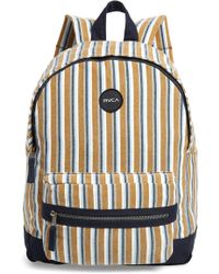 RVCA Tides Print Canvas Backpack - Multicolor