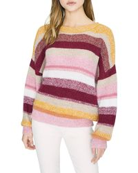 Sanctuary Blur The Lines Stripe Crewneck Sweater - Multicolor