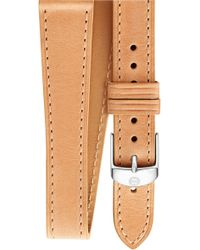 Michele - 16mm Leather Wrap Watch Strap - Lyst