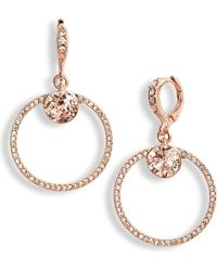 Givenchy - Pave Open Circle Drop Earrings - Lyst
