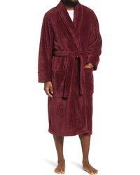 Nordstrom Plush Jacquard Robe - Red