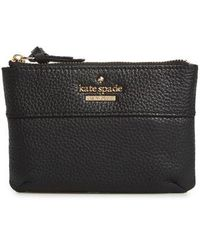 Kate Spade - Jackson Street Mila Leather Zip Pouch - Lyst