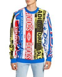 adidas Originals Synthetic Adicolor Tnt Tape Crew Sweat In