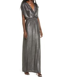 Fraiche By J - Shimmer Deep V-neck Gown - Lyst