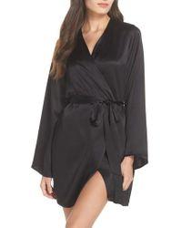 Morgan Lane | Langley Silk Charmeuse Short Robe | Lyst