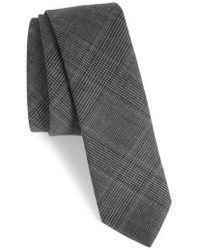 Eleventy - Glen Plaid Wool Skinny Tie - Lyst