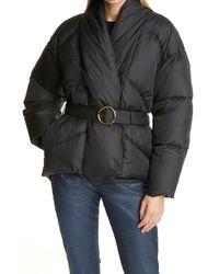 FRAME Wrap Puffer Coat - Black