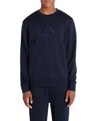 Moncler Logo Embroidered T-shirt - Blue