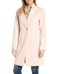 Kenneth Cole - Ponte Knit Duster Jacket - Lyst