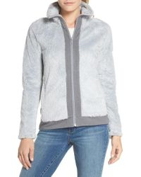 The North Face - Furry Fleece Jacket - Lyst