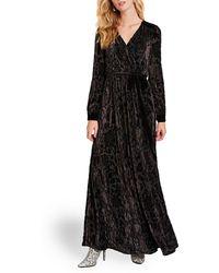 ModCloth Timeless Touch Velvet Maxi Cotton Dress - Black