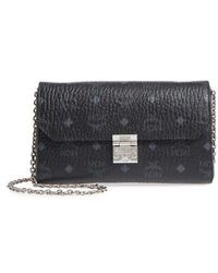 MCM - Millie Monogrammed Leather Crossbody Bag - Lyst