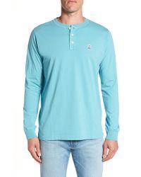 Psycho Bunny - Long Sleeve Henley T-shirt - Lyst
