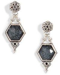 Konstantino - Santorini Hematite Octogan Drop Earrings - Lyst