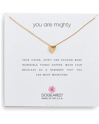 Dogeared - You Are Mighty Pyramid Pendant Necklace - Lyst