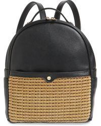 mali + lili Mali + Lili Harper Lili Basket Weave Backpack - - Black