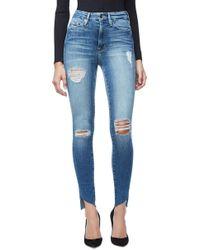 GOOD AMERICAN - Good Waist Raw Edge Skinny Jeans - Lyst