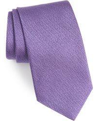 David Donahue - Solid Silk Tie - Lyst