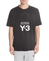 Y-3 - Y-s Stat Logo T-shirt - Lyst