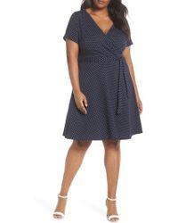 Dorothy Perkins - Spot Fit & Flare Wrap Dress - Lyst