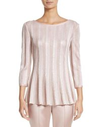 St. John | Ombre Sequin Stripe Knit Top | Lyst