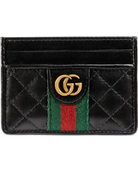 b9060a5a6423 Lyst - Gucci Swing Leather Zip Card Case in Red