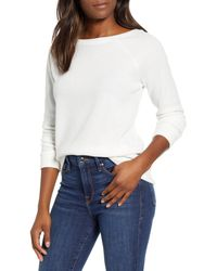 Caslon Caslon Knit Pullover - White