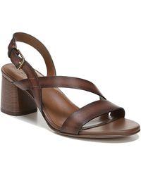 46ac95425b1 Lyst - Clarks Women s Briatta Key Slingback Block-heel Sandals in Black