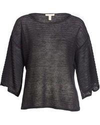 Eileen Fisher - Slit Sleeve Organic Linen Sweater - Lyst