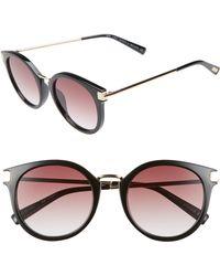 Le Specs - Last Dance 51mm Mirrored Round Sunglasses - Lyst
